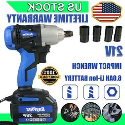 1/2 inch cordless impact wrench battery charger powerful 18V