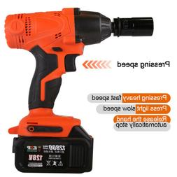 128V Brushless Electric Cordless Impact Wrench Torque Drill