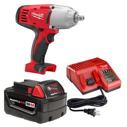 """Milwaukee 2662-21 M18 1/2"""" High-Torque Impact Wrench with Pi"""