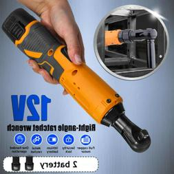 3/8'' 12V Electric Cordless Ratchet Right Angle Wrench Tool