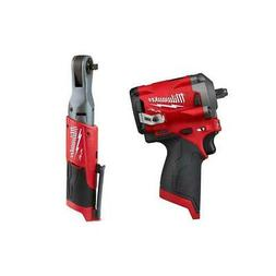 Milwaukee Cordless Impact Wrench and Ratchet 12-Volt Lithium