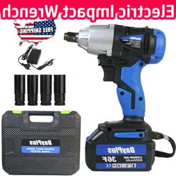 Electric Cordless Impact Wrench Torque Drill Tool With 6000m
