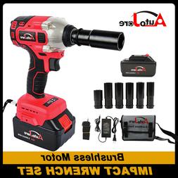 """New 1/2"""" Cordless Impact Wrench Li-Ion Battery Electric Powe"""
