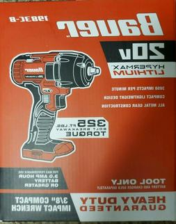 """*NEW* BAUER 20V Hypermax Cordless 3/8"""" Compact Impact Wrench"""
